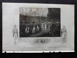 Tallis (Pub) 1854 Portrait Print. Surrender of the Two Son's of Tippoo Sultan